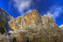 Yosemite Falls in Snow Blanket