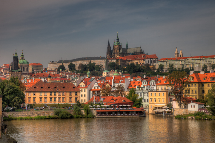 Prague Castele from Across the Vltava River