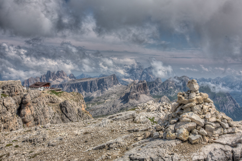 Clearing storm over the Italian Dolomites