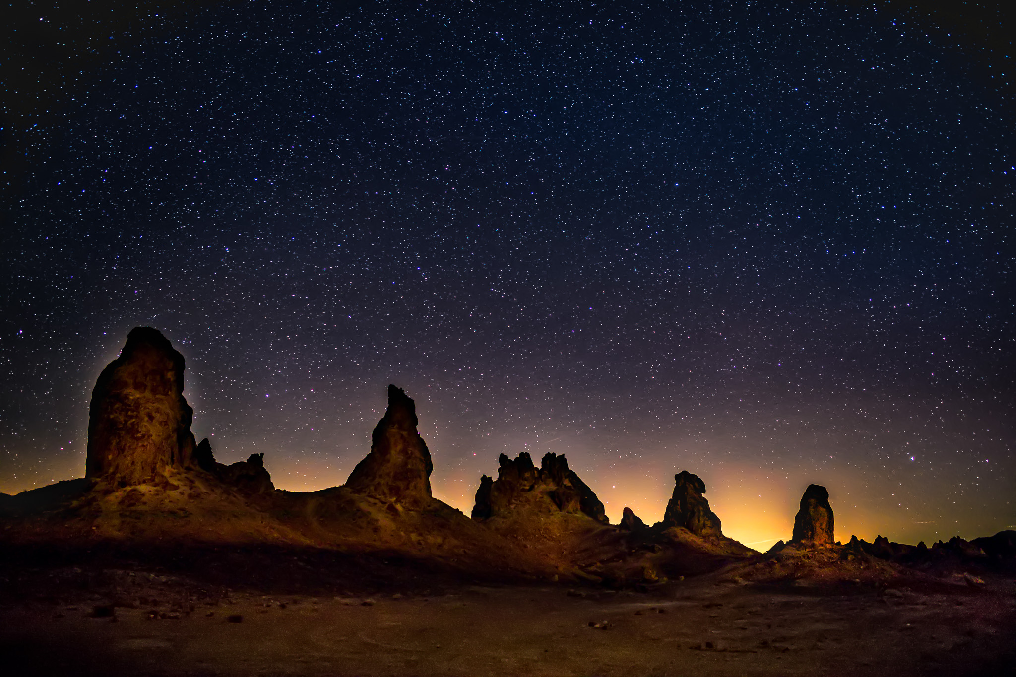 Trona Pinnacles by Starlight