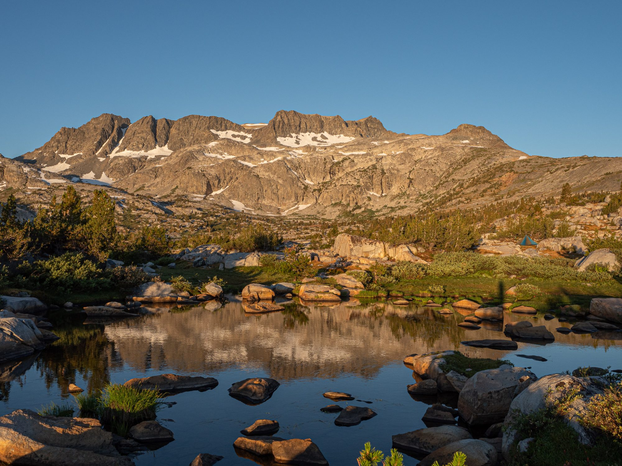 Sierra Reflection in Thousand Island Lake